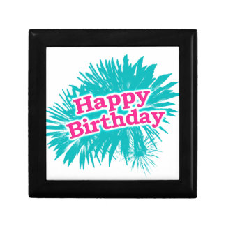 Happy Brithday Typographic Design Gift Box
