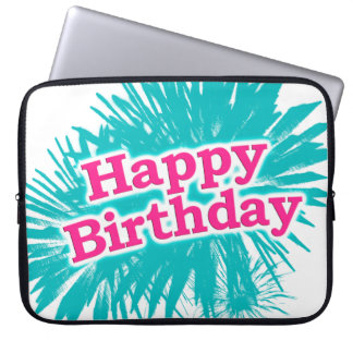 Happy Brithday Typographic Design Laptop Sleeve