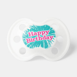 Happy Brithday Typographic Design Pacifier