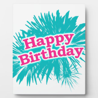 Happy Brithday Typographic Design Plaque
