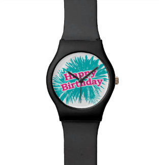 Happy Brithday Typographic Design Watch