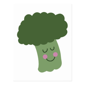 Happy Broccoli Postcard