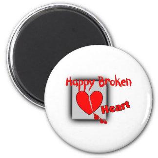 """Happy Broken Heart""--Funny Valentine Gifts 2 Inch Round Magnet"