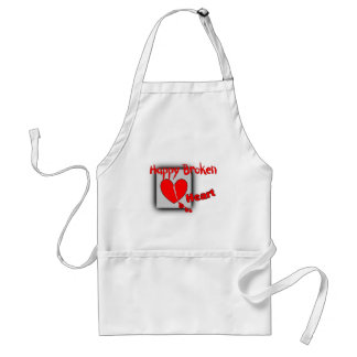 """Happy Broken Heart""--Funny Valentine Gifts Adult Apron"