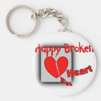 """""""Happy Broken Heart""""--Funny Valentine Gifts Basic Round Button Keychain"""
