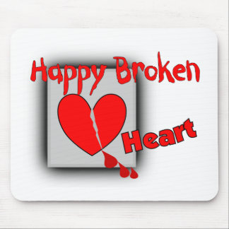 """Happy Broken Heart""--Funny Valentine Gifts Mouse Pad"