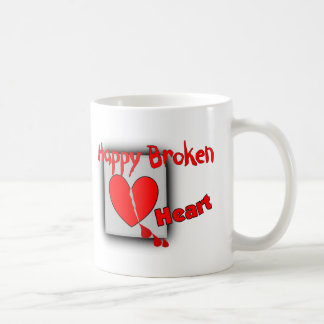 """Happy Broken Heart""--Funny Valentine Gifts Classic White Coffee Mug"