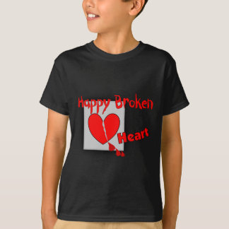 """Happy Broken Heart""--Funny Valentine Gifts T-Shirt"