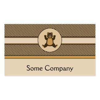 Happy Brown Bear Color Swatches Business Card