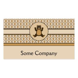Happy Brown Bear Diamonds Business Card