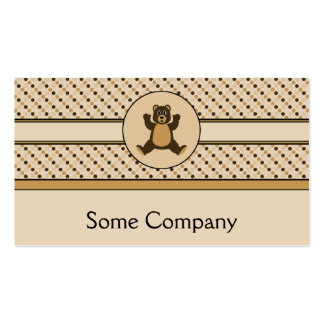 Happy Brown Bear Dots Business Card