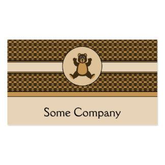 Happy Brown Bear Pattern Business Card