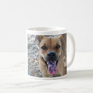 Happy Brown dog with spotted tongue Coffee Mug