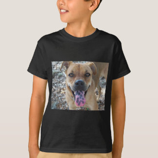 Happy Brown dog with spotted tongue T-Shirt