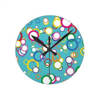 Happy Bubbles Round Clock