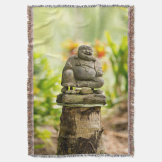 Happy Buddha Throw Blanket
