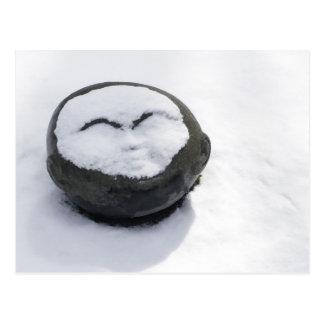 Happy Buddha With Snow Facial Postcard
