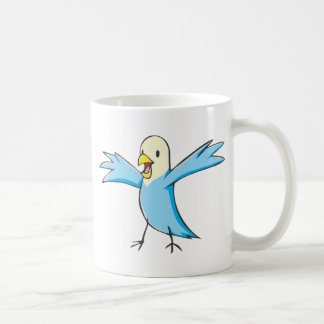 Happy Budgerigar Parrot Bird Cartoon Coffee Mugs