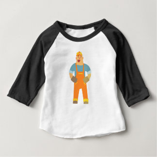 Happy Builder On Construction Site. Graphic Design Baby T-Shirt