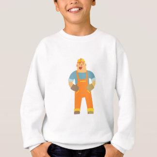 Happy Builder On Construction Site. Graphic Design Sweatshirt