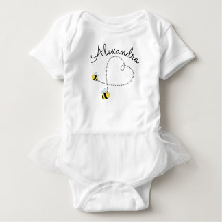 Happy Bumble Bees Flying Heart Personalized
