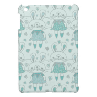 Happy Bunnies in Blue Cover For The iPad Mini