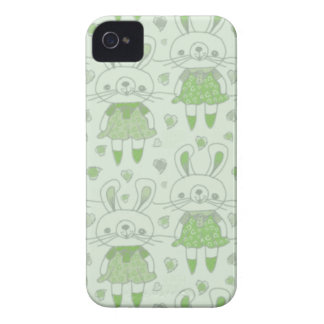 Happy Bunnies in Green Case-Mate iPhone 4 Case
