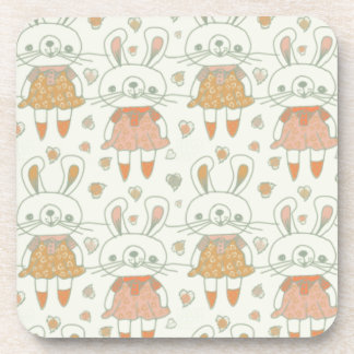 Happy Bunnies in Orange Coaster