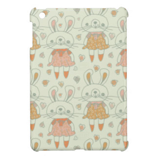 Happy Bunnies in Orange Cover For The iPad Mini