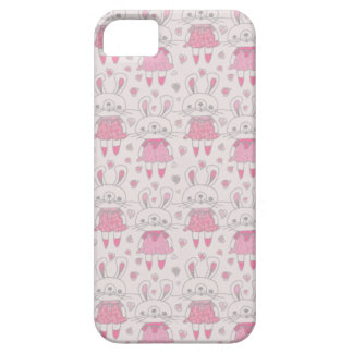 Happy Bunnies in Pink Case For The iPhone 5