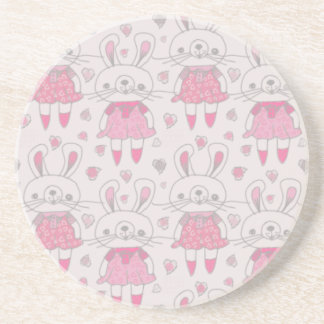 Happy Bunnies in Pink Coaster