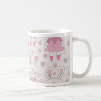 Happy Bunnies in Pink Coffee Mug