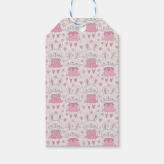 Happy Bunnies in Pink Gift Tags