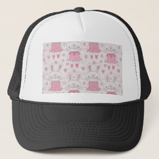 Happy Bunnies in Pink Trucker Hat