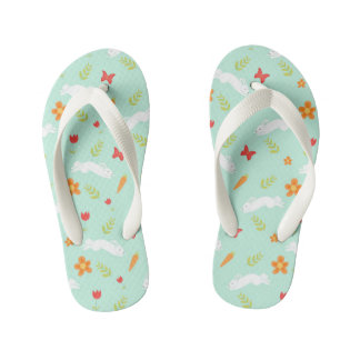 Happy Bunny Cute Cartoon Kid's Flip Flops