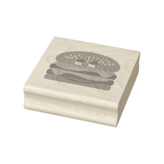 Happy Burger Love Rubber Stamp