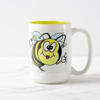 Happy Busy Bee Two-Tone Coffee Mug