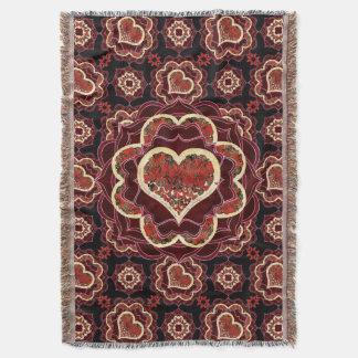 Happy Butterfly Mandala Throw Blanket