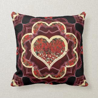 Happy Butterfly Mandala Throw Pillow