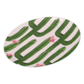 Happy Cacti melamine plate