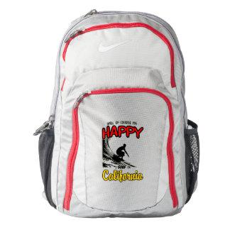 HAPPY CALIFORNIA SURFER 2 Black Backpack
