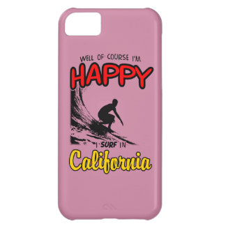 HAPPY CALIFORNIA SURFER 2 Black iPhone 5C Cases