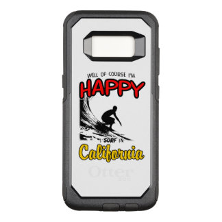HAPPY CALIFORNIA SURFER 2 Black OtterBox Commuter Samsung Galaxy S8 Case