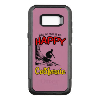 HAPPY CALIFORNIA SURFER 2 Black OtterBox Commuter Samsung Galaxy S8+ Case