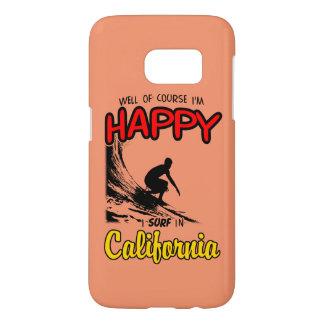 HAPPY CALIFORNIA SURFER 2 Black Samsung Galaxy S7 Case