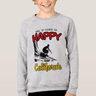 HAPPY CALIFORNIA SURFER 2 Black Sweatshirt