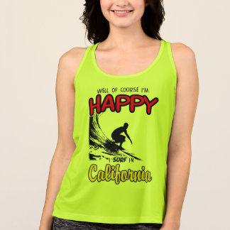 HAPPY CALIFORNIA SURFER 2 Black Tank Top