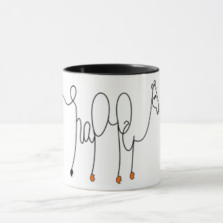 Happy Camel Calligraphy Mug