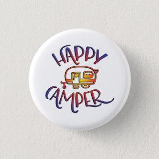 Happy Camper Badge 1 Inch Round Button