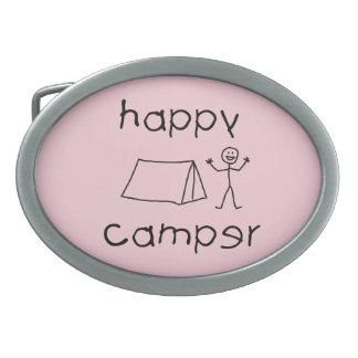 Happy Camper (blk) Belt Buckles